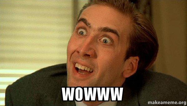 WOWWW - Sarcastic Nicholas Cage   Make a Meme