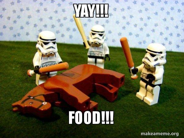 Yay Food Flogging A Dead Horse Make A Meme #food meme #vegans #veganism #vegan #vegan joke #vegan meme #cake #yummy #livekindlyco #livekindly. yay food flogging a dead horse
