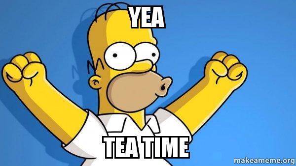 Znalezione obrazy dla zapytania tea time meme