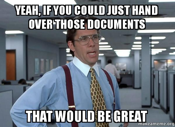 if you could just document