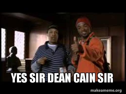 yes sir dean yes sir dean cain sir make a meme