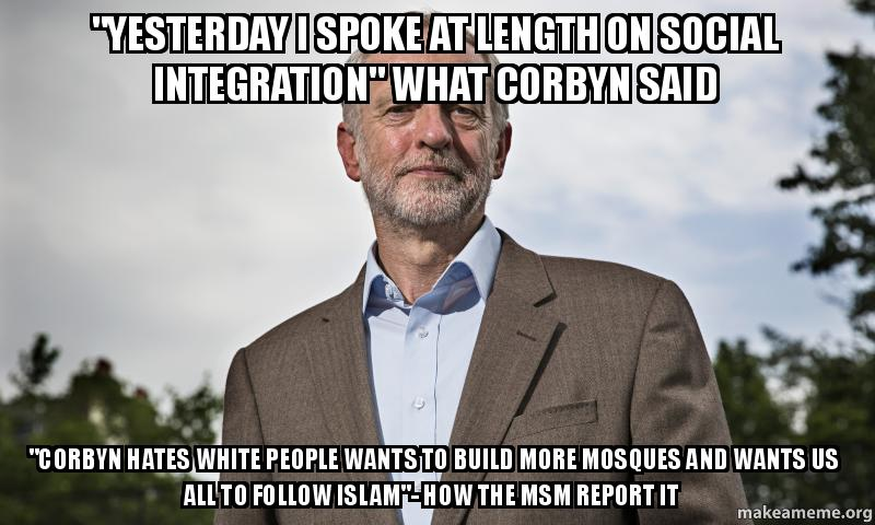 """yesterday i spoke at length on social integration"" what ..."