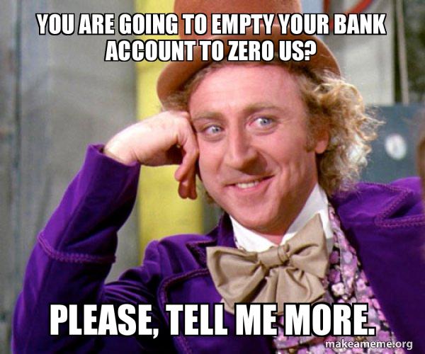 Post Rave Bank Account Empty Wallet Meme Generator