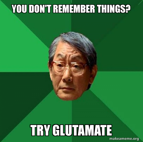 you don't remember things? try glutamate - High Expectations Asian ...