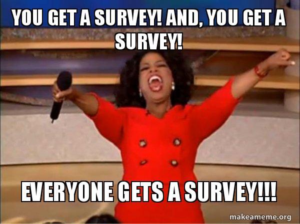 Image result for survey meme