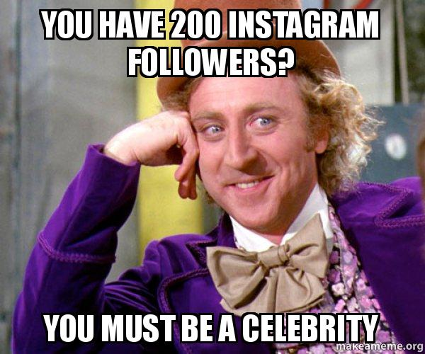 You Have 200 Instagram Followers You Must Be A Celebrity Willy