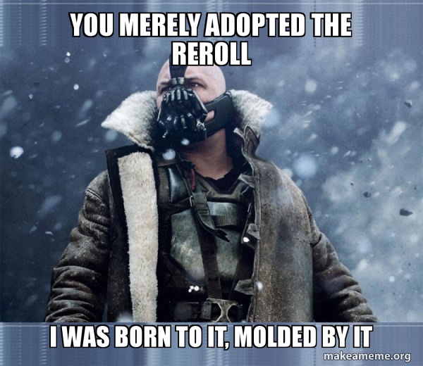 Bane (born into it, molded by it) meme