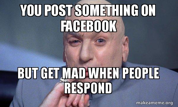 Post something on facebook