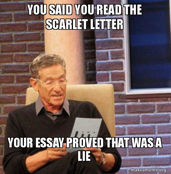 You Said You Read The Scarlet Letter Your Essay Proved That Was A