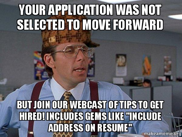 your application was not selected to move forward but join