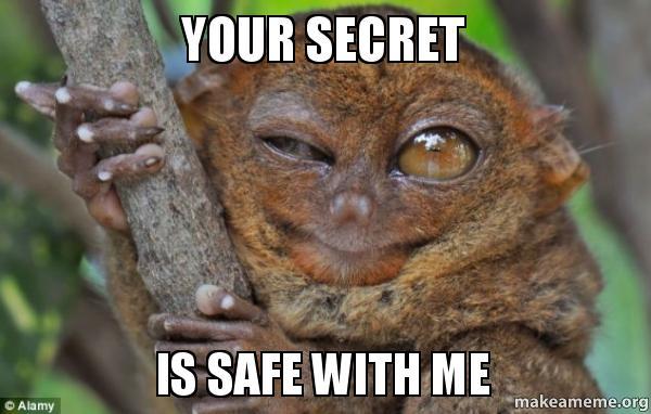 your secret is your secret is safe with me make a meme